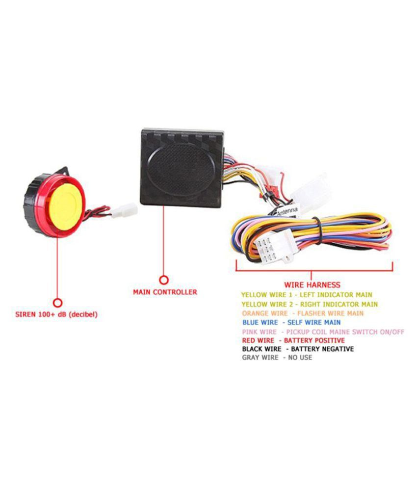 Gc International Motorbike Alarm Kit For Bike Anti Theft Security Pickup Wiring Harness