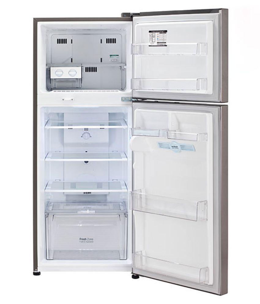 ... LG 260 Ltr 3 Star GL I292RPZY Double Door Refrigerator   Steel ...