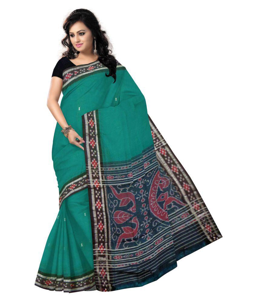 Odisha Saree Store Green Cotton Saree