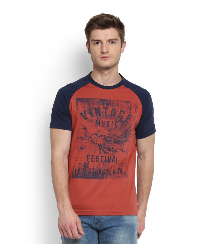 Levi's Red Round T-Shirt
