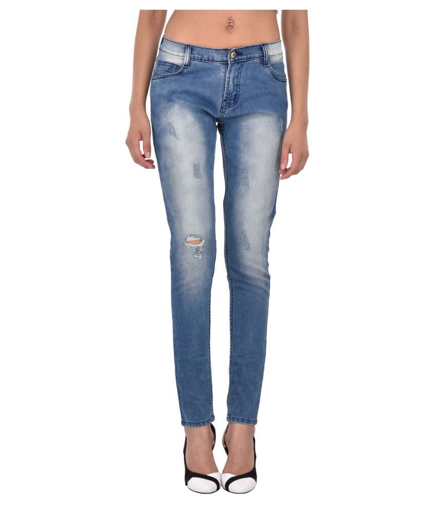 Ansh Fashion Wear Denim Lycra Jeans