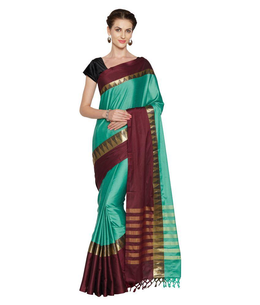 Anwesha Saree Green Cotton Silk Saree