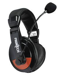 Frontech JIL- 3442 Over Ear Wired Headset With Mic (Designed for Computers)