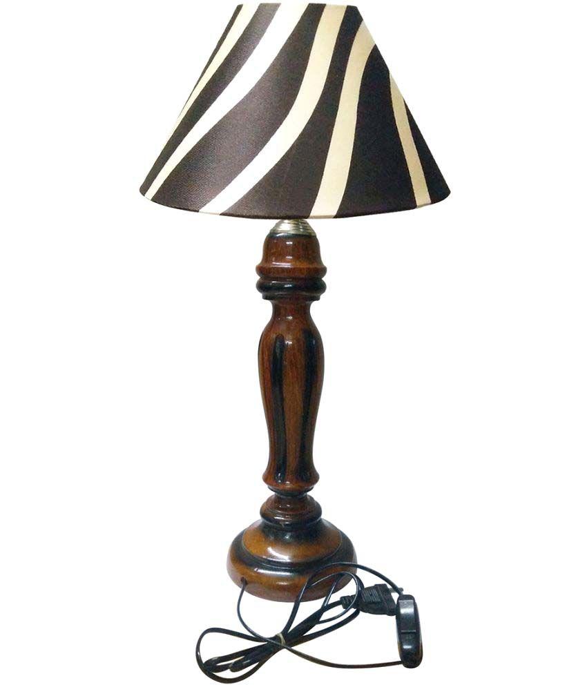 gold dust modern designer 47 wood table lamp pack of 1 buy gold dust modern designer 47 wood. Black Bedroom Furniture Sets. Home Design Ideas