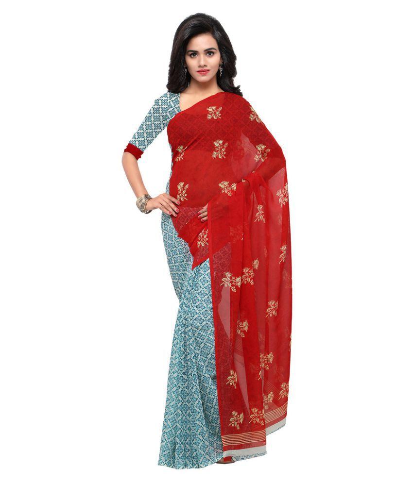 Shopkio Multicoloured Art Silk Saree