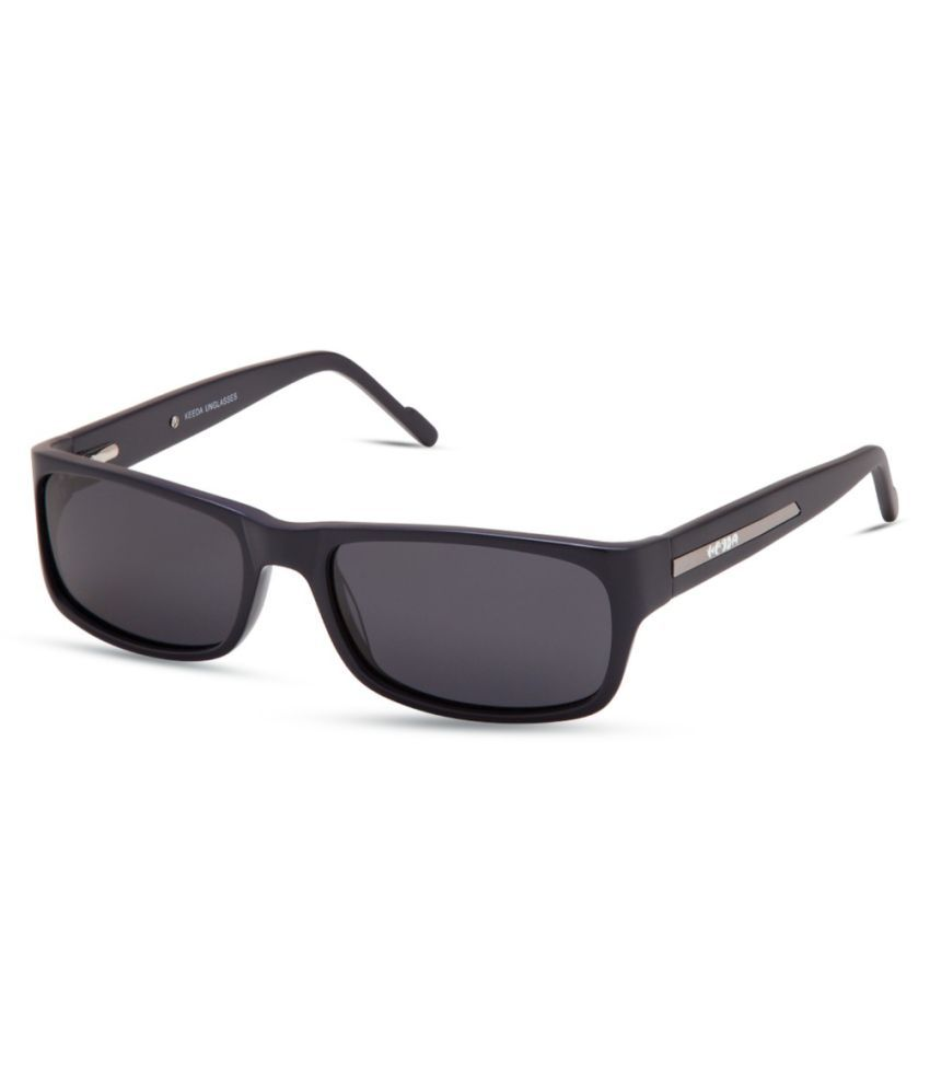 Keeda Black Rectangle Sunglasses ( ML_06_BLK )