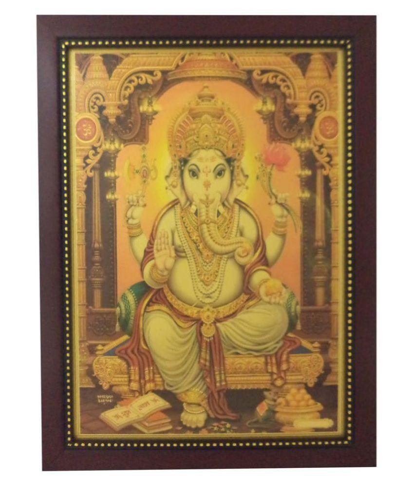 Lord Ganesha (34 cm x 25 cm x 1.5 cm, Red) / Gifts / Home decor ...