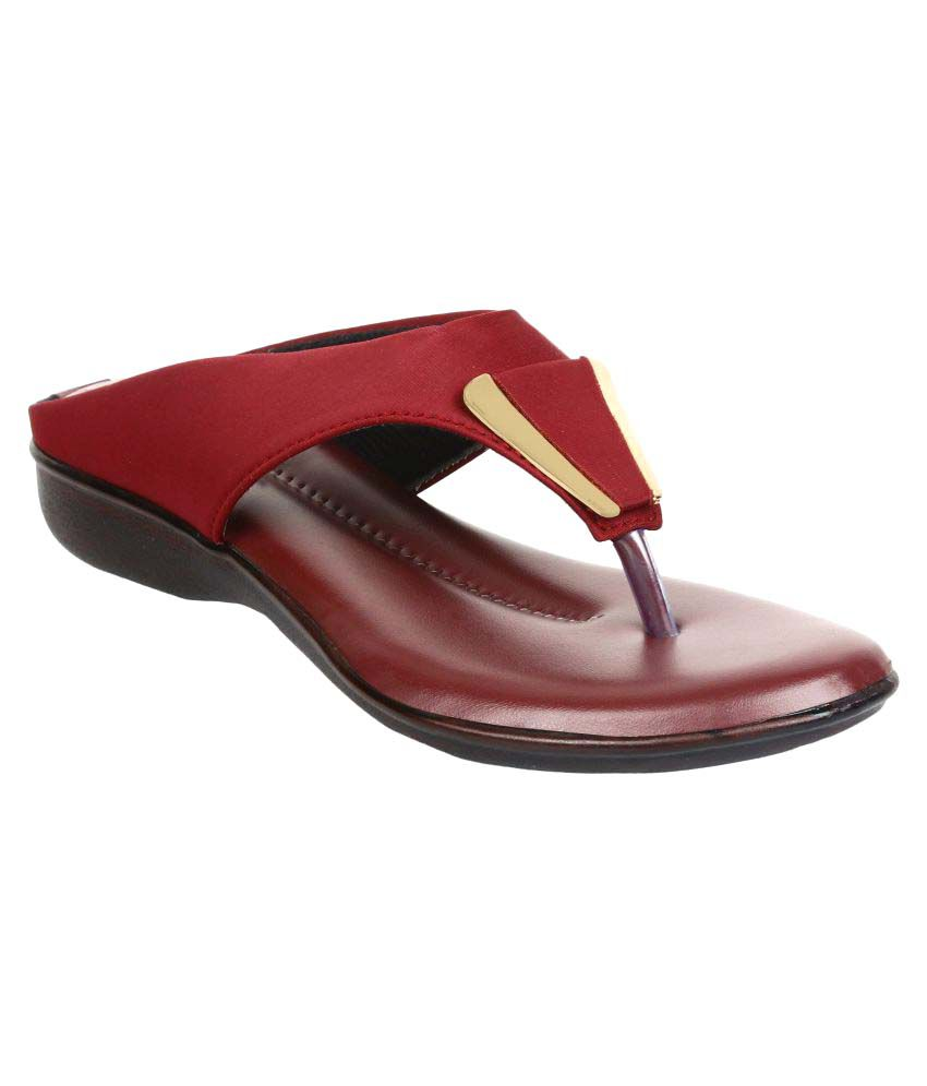 Authentic Vogue Maroon Flats