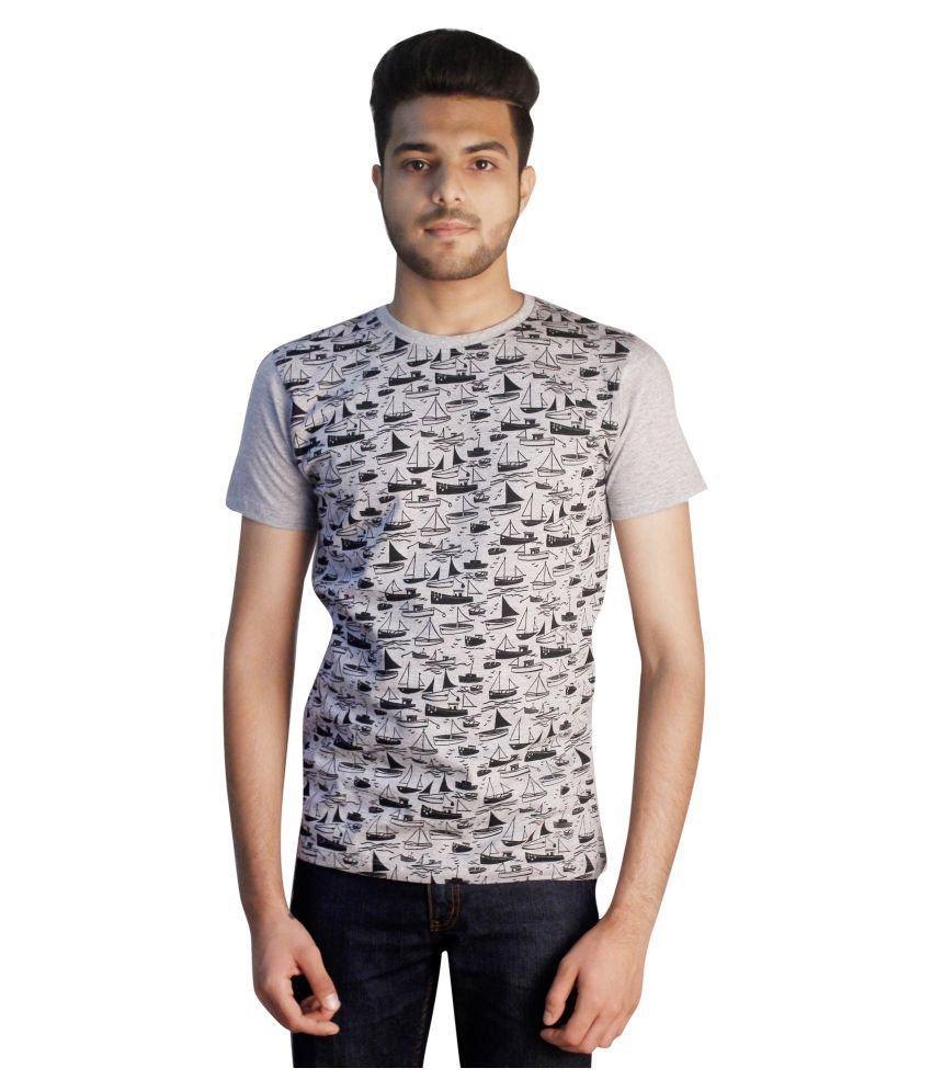 Tapasya Grey Round T-Shirt