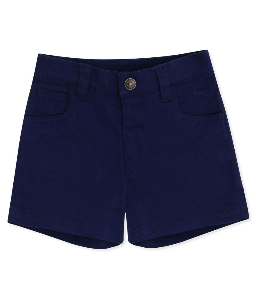 100% Cotton Shorts with Front Open Button