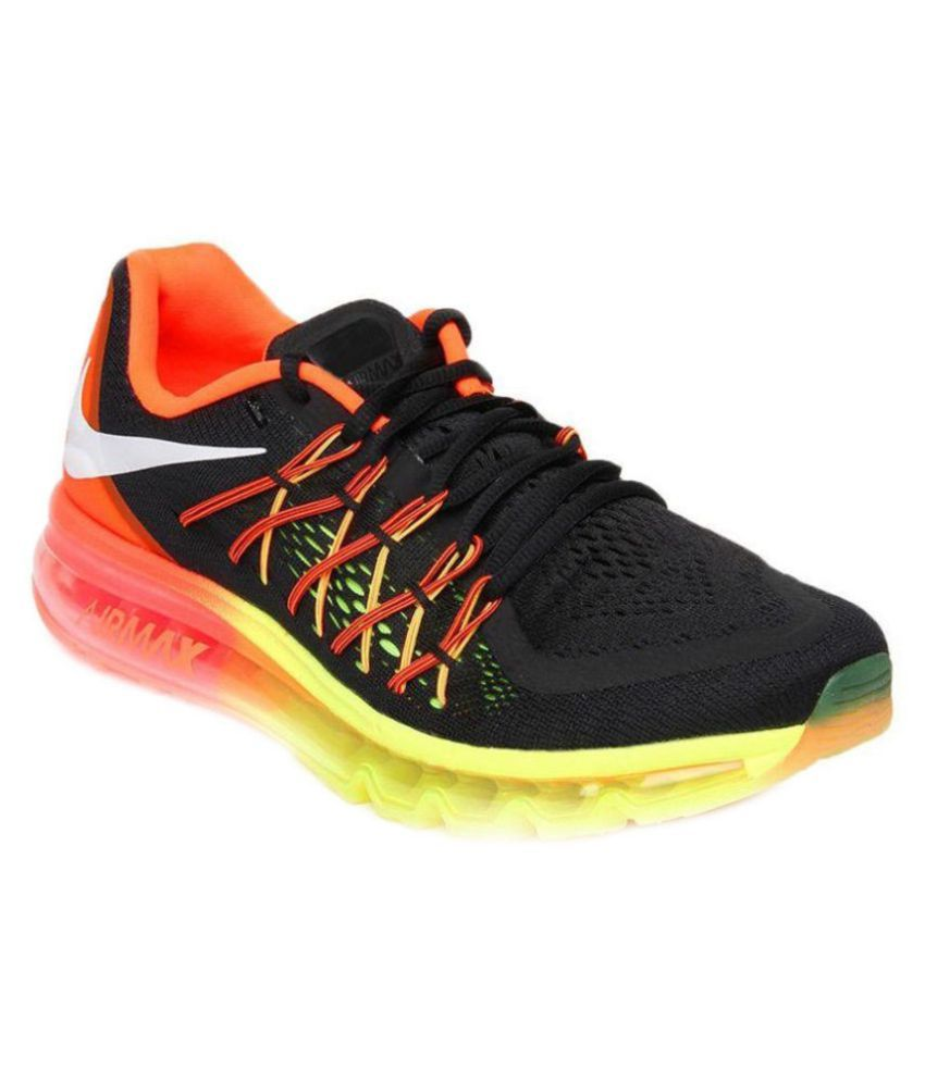 sale retailer c88ea 31d36 Nike Air Max 2015 Black Training Shoes - Buy Nike Air Max 2015 Black  Training Shoes Online at Best Prices in India on Snapdeal