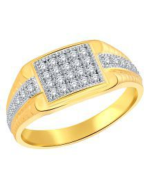 Classic Business Magnate (CZ) Gold Plated Ring for Men [CJ5001FRG17]