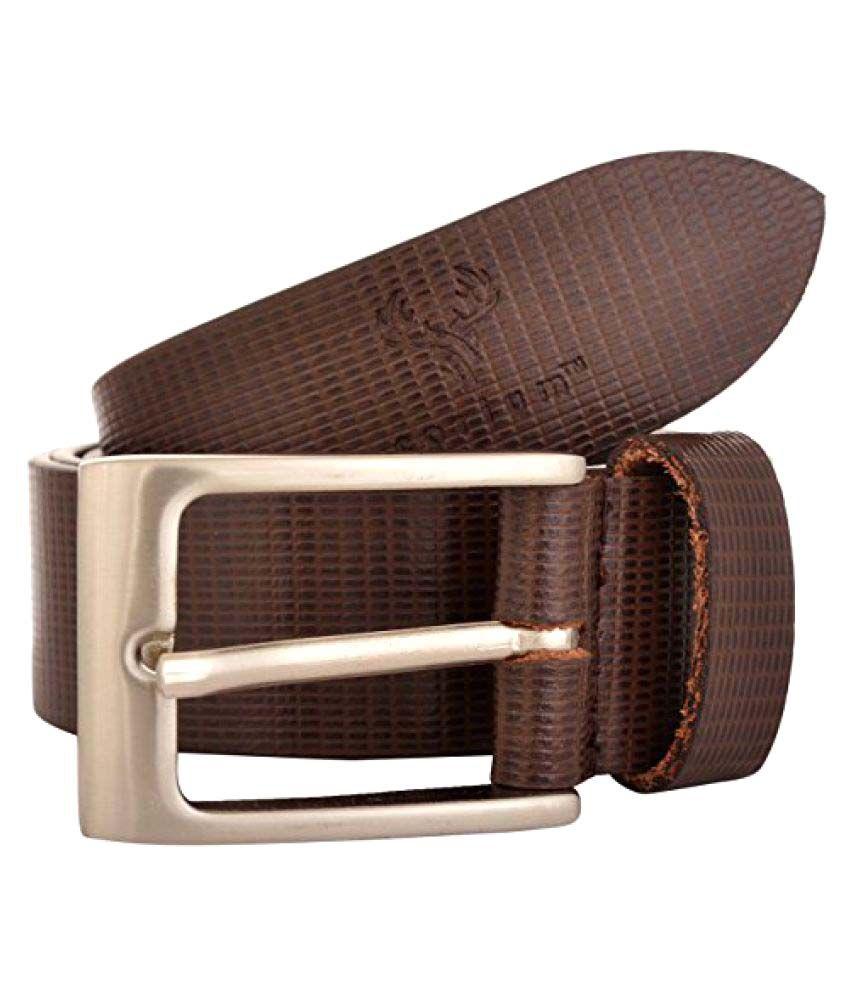 Corium Brown Leather Formal Belts