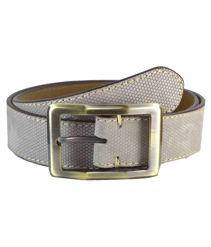 Sizzlers Gray Leather Casual Belts