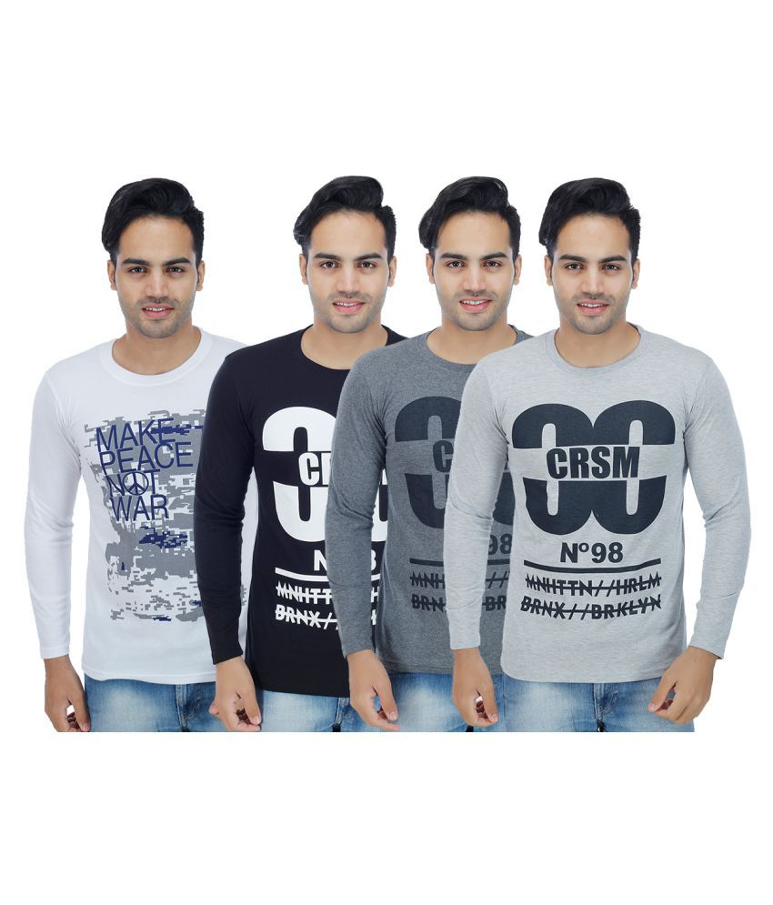 Christy's Collection Multi Round T-Shirt Pack of 4