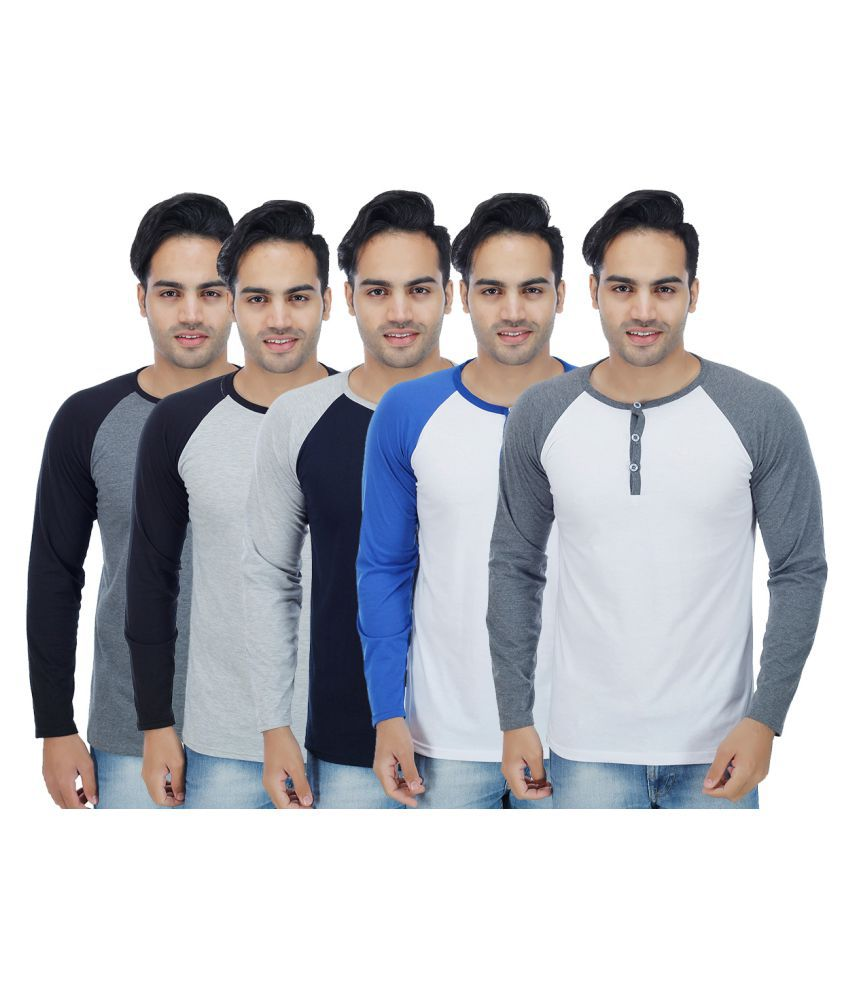 Christy's Collection Multi Round T-Shirt Pack of 5