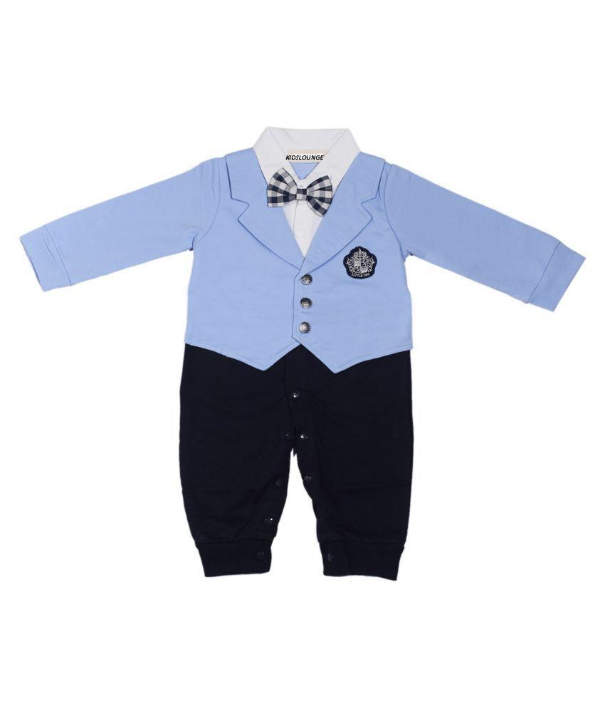 7c036dc8e01e Kidslounge Baby Boy long sleeve light blue jacket coat romper with ...