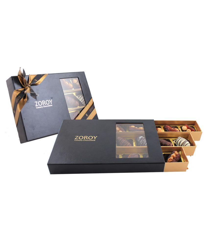 ZOROY LUXURY CHOCOLATE Assorted Box Ramzan 3 trays of 15 Dates 1000 gm
