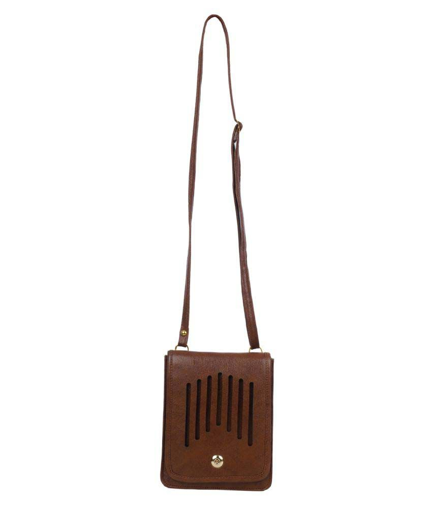 FD Fashion Brown P.U. Sling Bag
