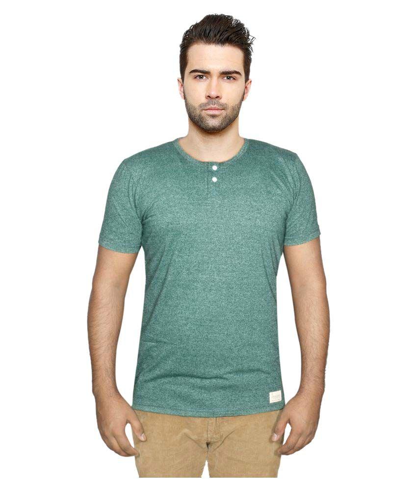 Indiweaves Green Henley T-Shirt
