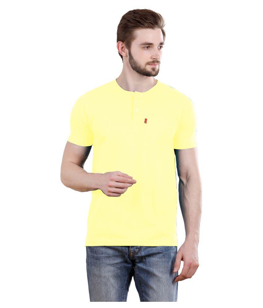 Spur Yellow Henley T-Shirt