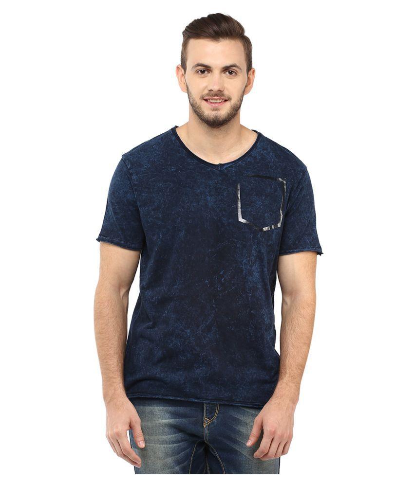 Spykar Blue Round T-Shirt