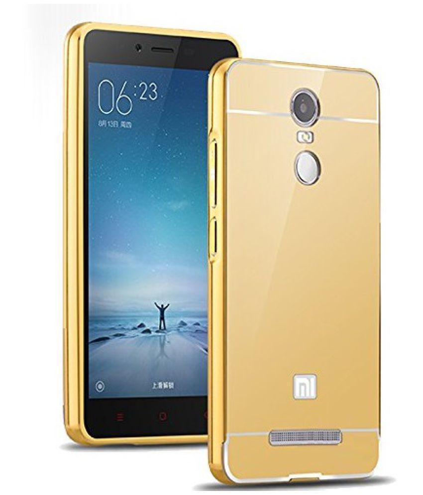 the latest d8259 2cca3 Xiaomi Redmi Note 3 Mirror Back Covers Wow Imagine - Golden