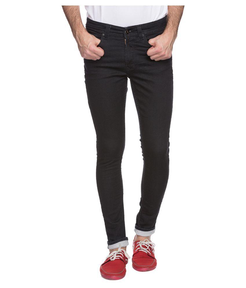 Spykar Black Super Skinny Jeans