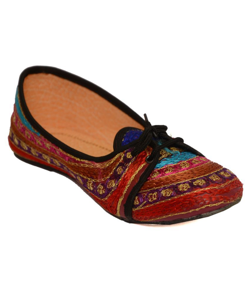 Ethnic Multi Color Flat Ethnic Footwear