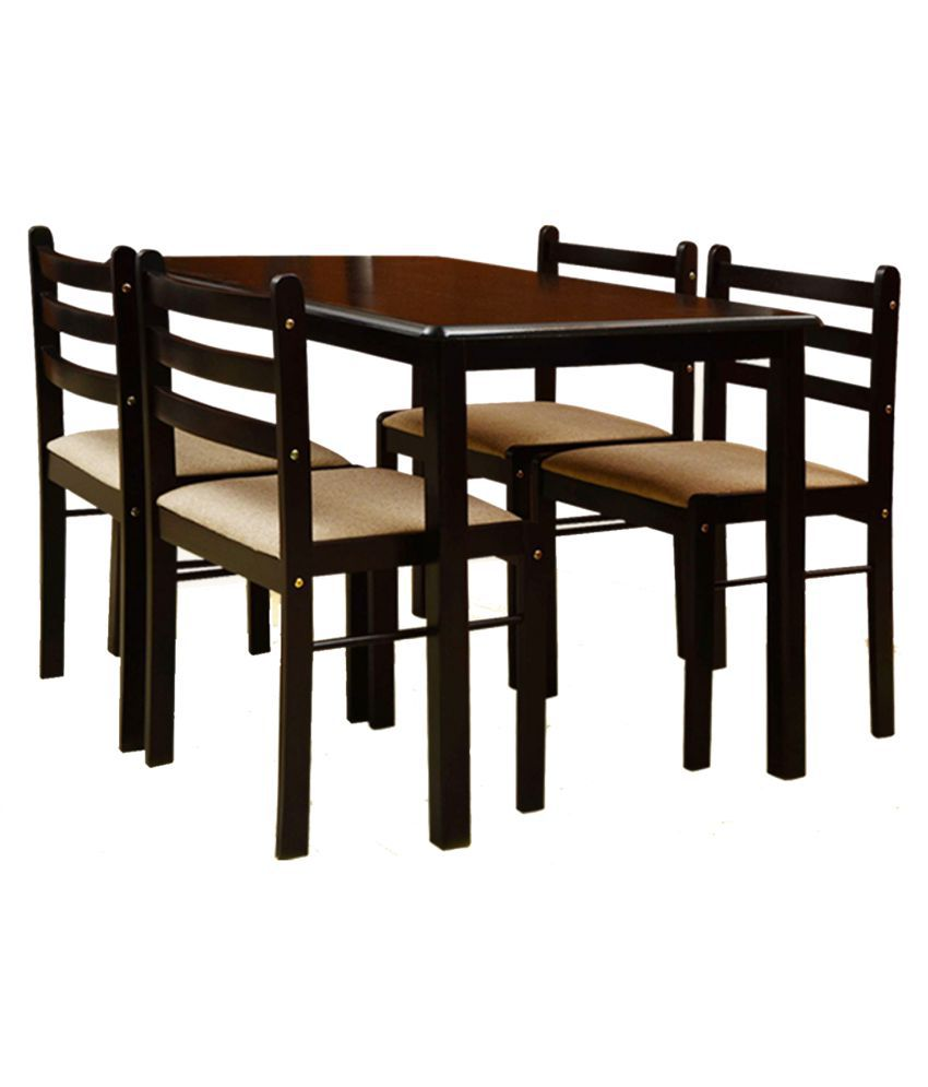T2A Appyspace Wooden Four Seater Dining Table