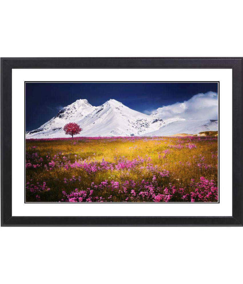 Craftsfest Beautifull Mountain MDF Painting With Frame- (30cmX20cmX1.5cm)