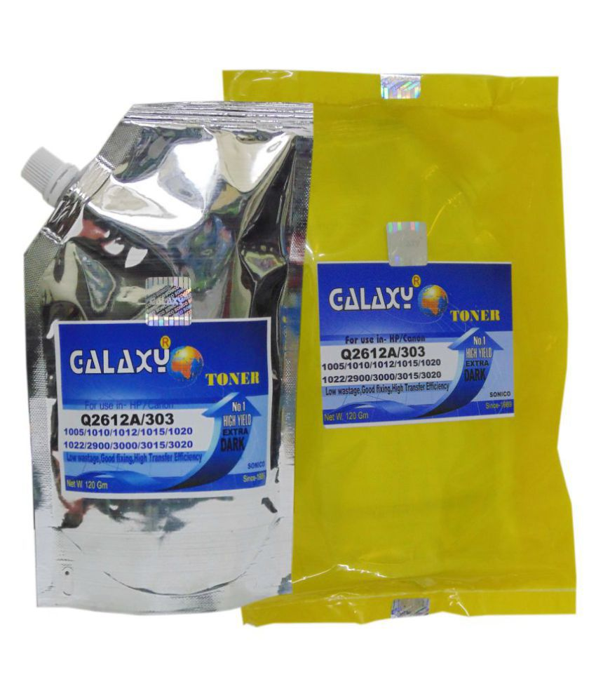 Galaxy 12A HP / Canon Black Combo Pack Toner Pack of 5