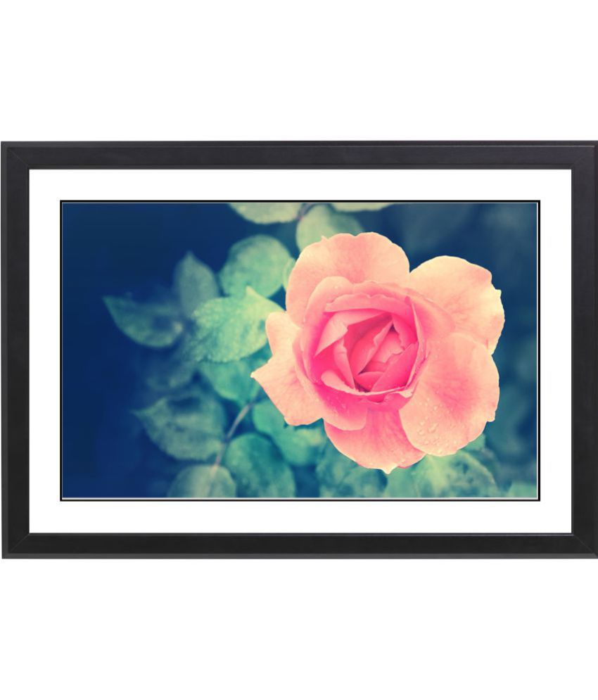 CRAFTSFEST BEAUTIFULL FLOWER MDF Painting With Frame- (30cmX20cmX1.5cm)