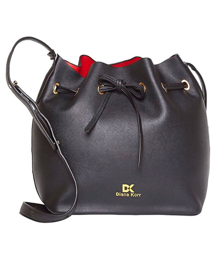 Diana Korr Black P.U. Sling Bag
