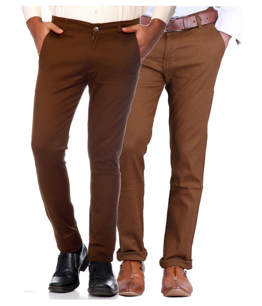 Van Galis Multi Regular -Fit Flat Trousers