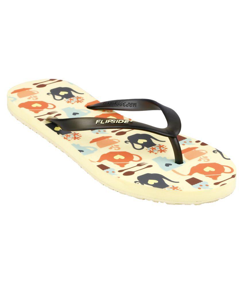 Flipside Black Slippers