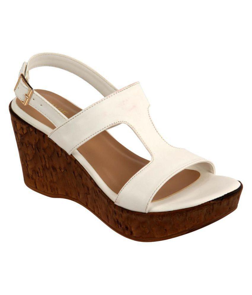 Lavie White Wedges Heels
