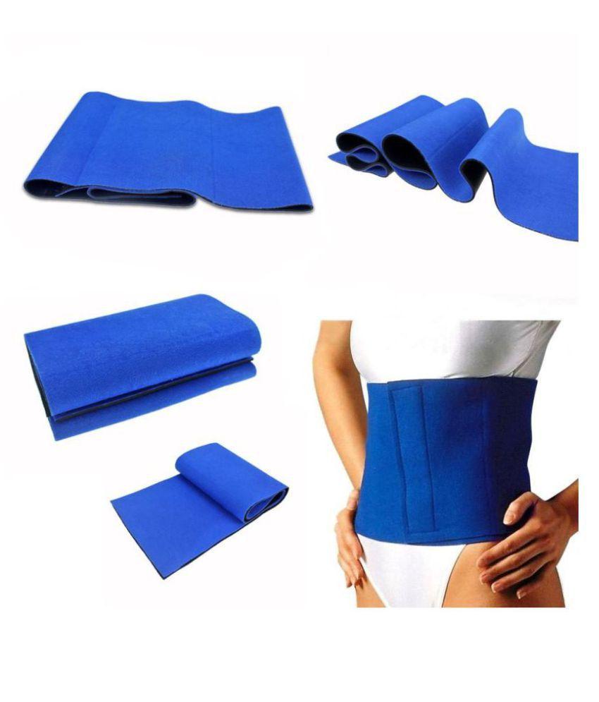 THE STAR TECH Sweat Belt Freesize Fat Weight Body Shaper HOT BELT (BLUE) & Waist Trimmer Belt & Stomach Wrap Slimming Belt