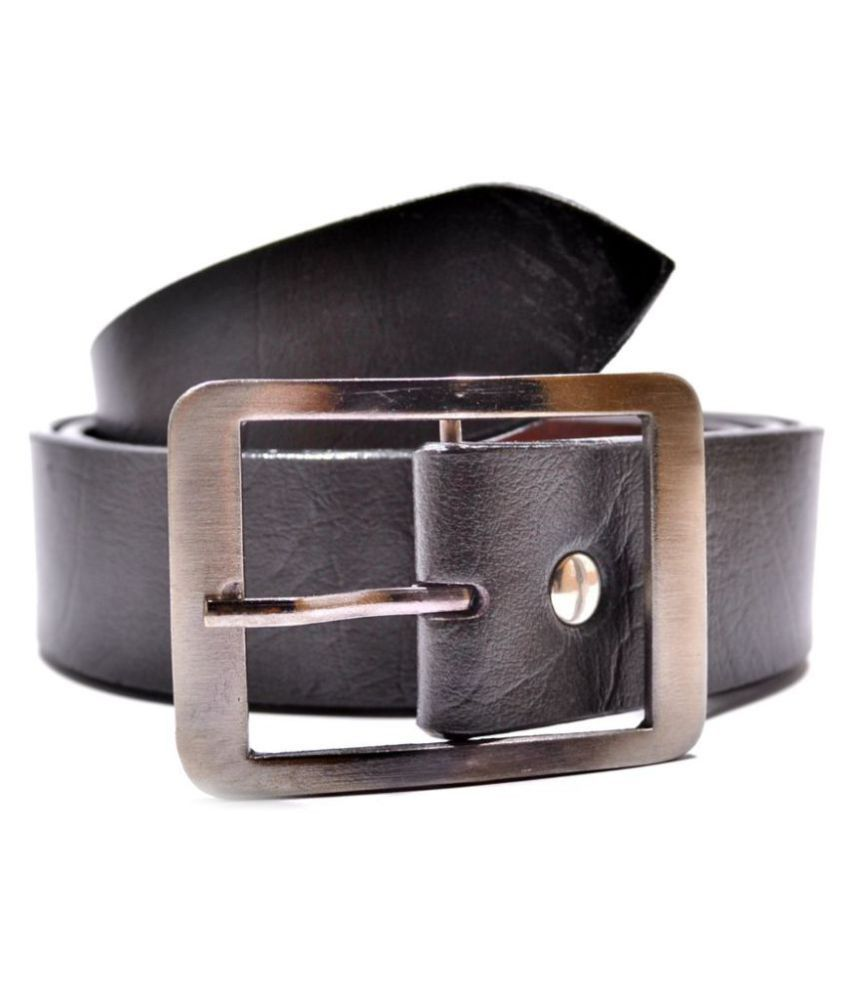 Fulten Black Faux Leather Formal Belts