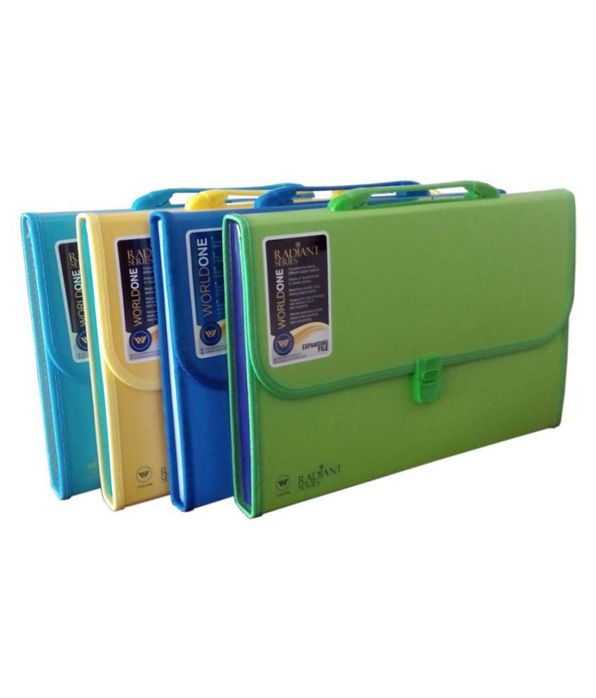 Worldone Expanding File 13 Pockets Set of 4