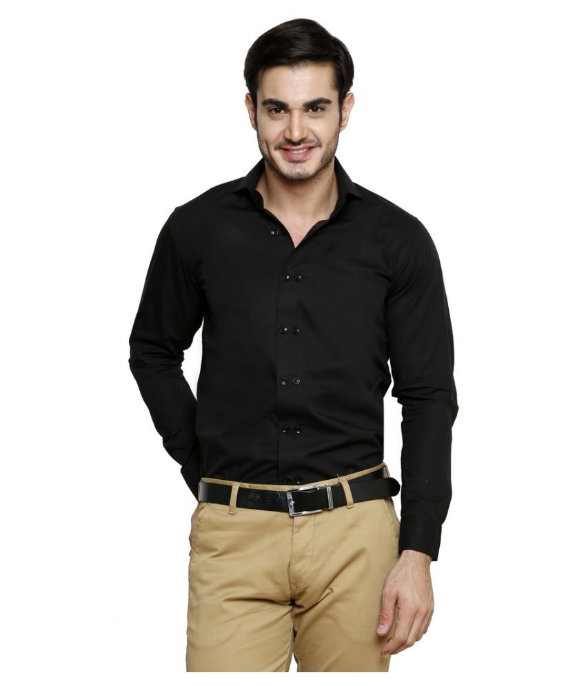 Color Opera Kreation Black Casual Regular Fit Shirt