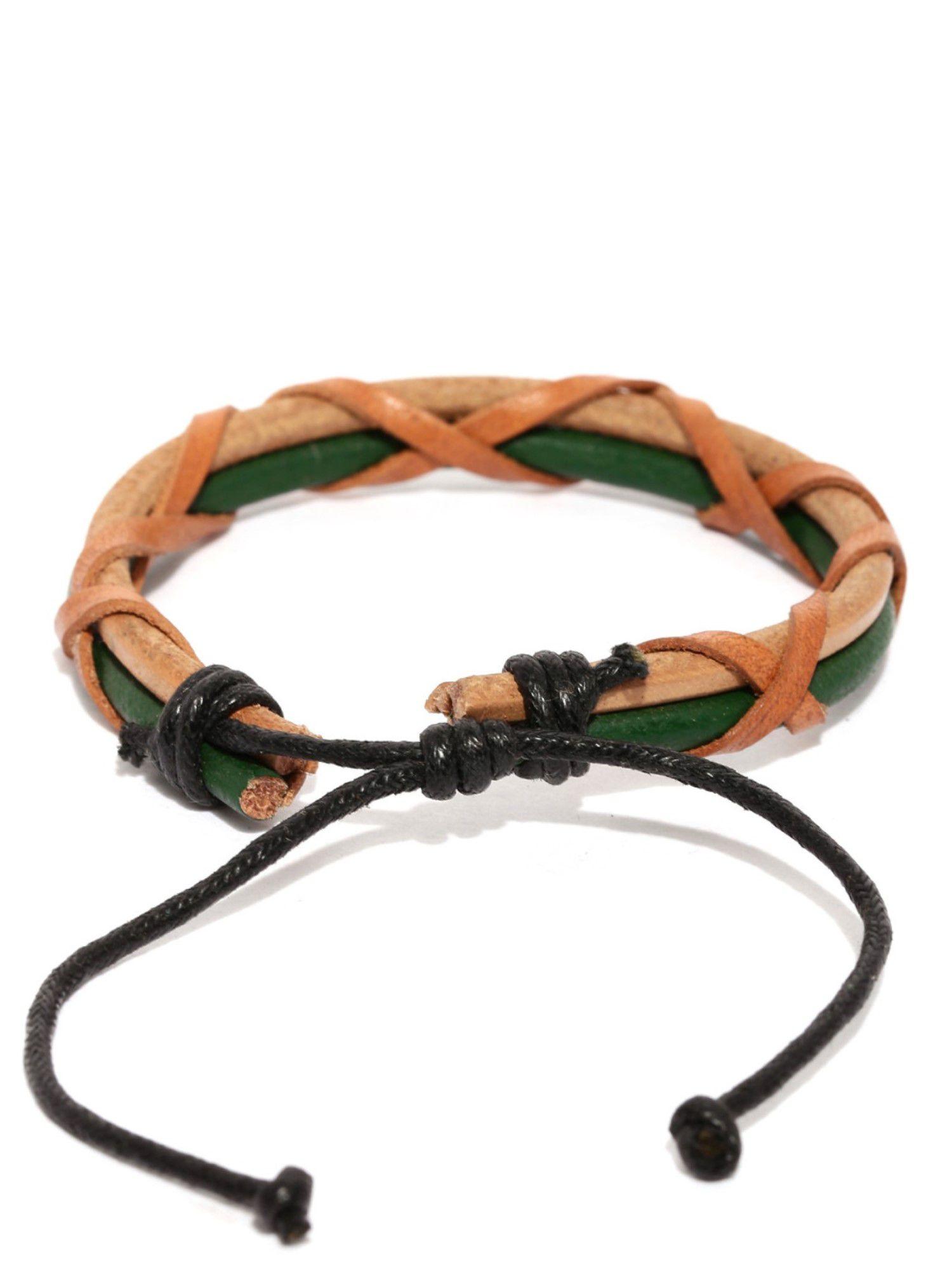 Tipsyfly Western Ubud Leather Bracelet For Men