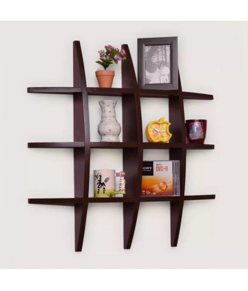 Onlineshoppee Floating Shelf/ Wall Shelf / Storage Shelf/ Decoration Shelf Brown - Pack of 1
