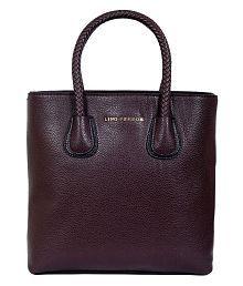 Lino Perros Brown Faux Leather Shoulder Bag - 5764608175767219330