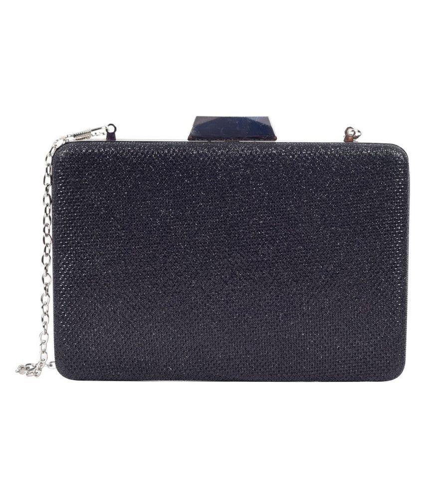 Lino Perros Black Faux Leather Handheld