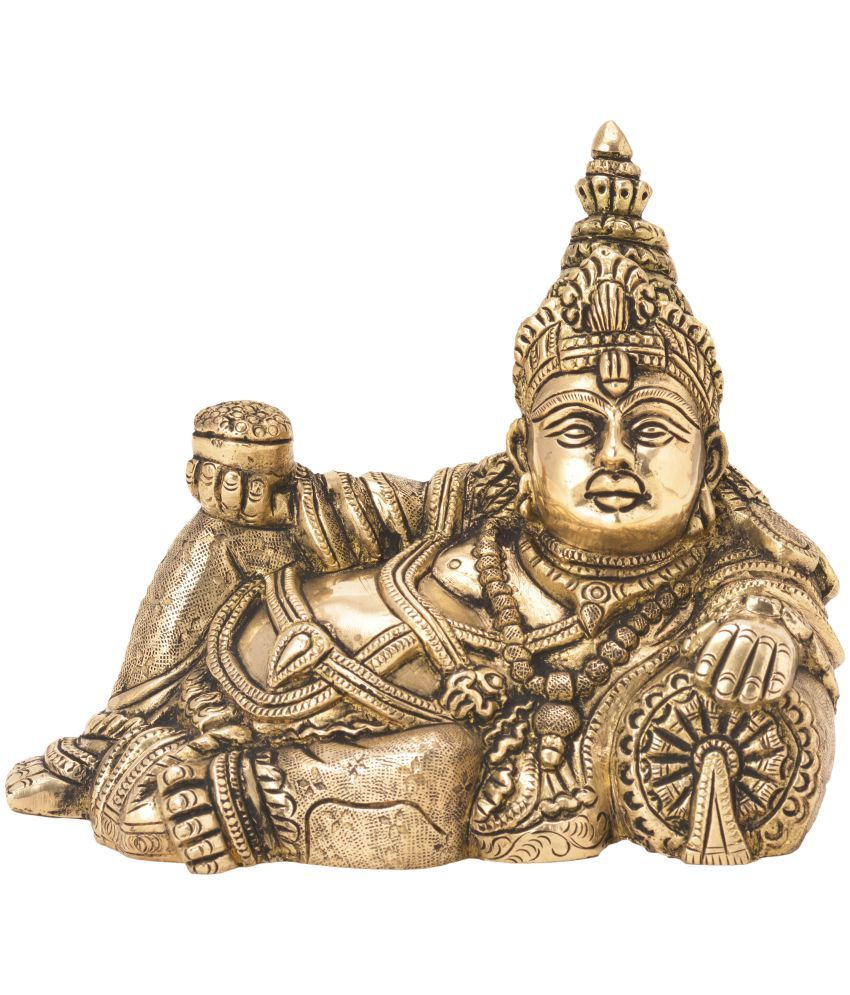 Bharatart Kuber Brass Idol