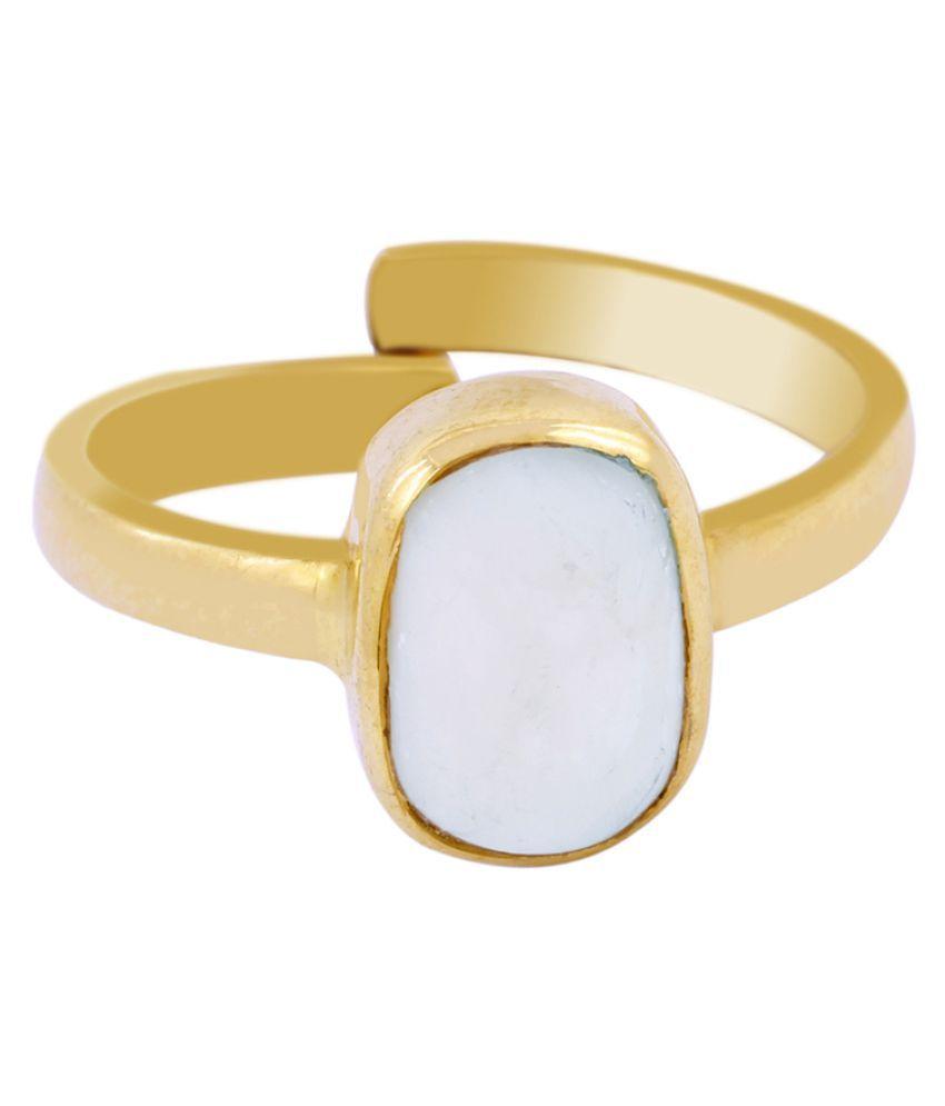 Avaatar Panch Dhatu Yellow Gold Opal Ring