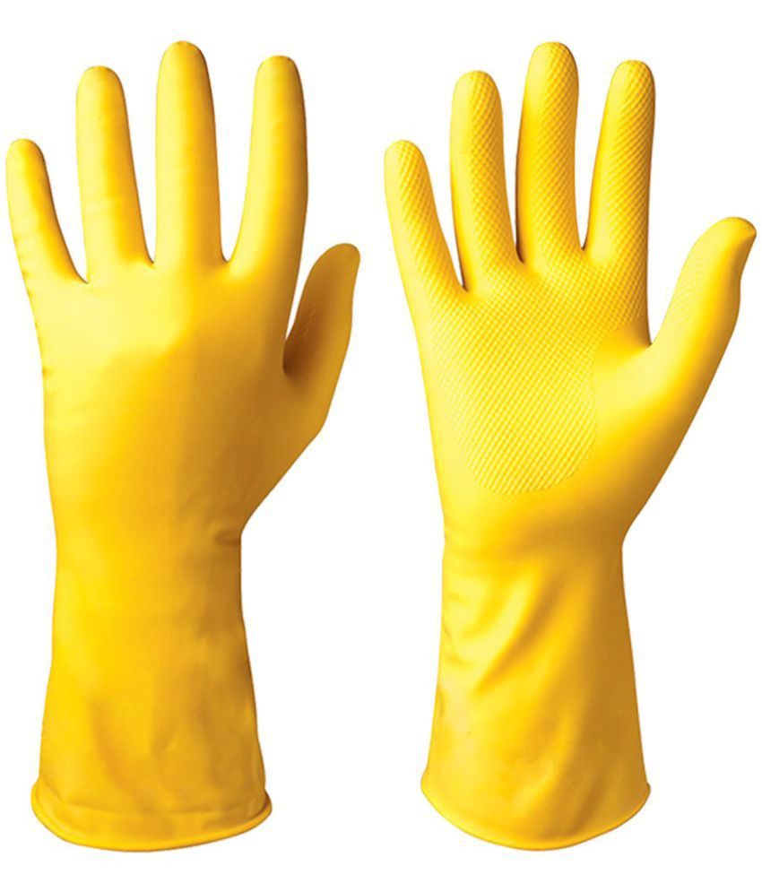 Healthgenie Latex Large Cleaning Glove 1 Pair of Gloves