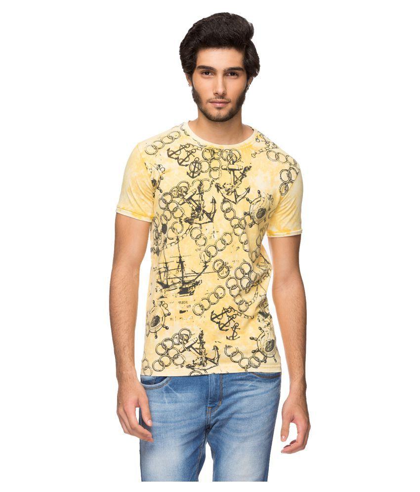 YOO Yellow Round T-Shirt