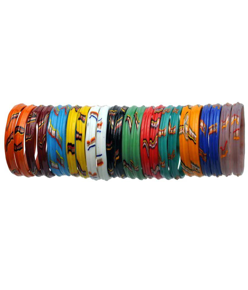 Trendy Twisted Multicolor glass bangles/Kada for women traditional and wedding